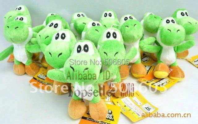 """Free shipping  50pcs/lot  Super Mario plush toys 4""""  mario figure  yoshi Plush doll pendant"""