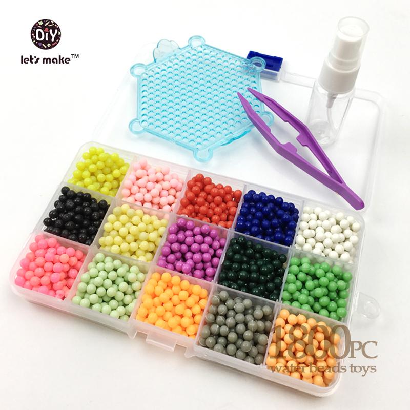 1800PCS 15Colour Water sticky perler beads pegboard set fuse beads jigsaw puzzle Water beadbond educational toys diy kids gift(China (Mainland))