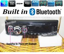 12V Car Radio Stereo Bluetooth Handsfree Support USB/SD MMC Port Charging FM Auto Radio MP3 Audio Player 1 Din In-Dash  ZQC65(China (Mainland))
