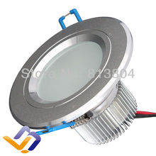 3W High Power LED Flood Spot recessed Light Downlight Down Lamp 100-240V 110V 220V  cool and  warm white color ceiling for home(China (Mainland))