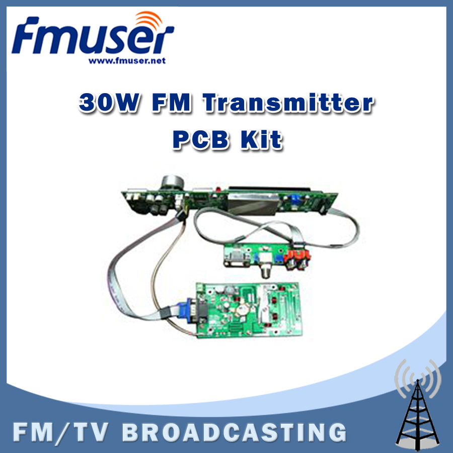 Free shipping FSN-30K 30W FM Broadcast Transmitter Assemble PCB Kit LCD display(China (Mainland))