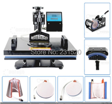 7 in 1 Digital Combo Heat Press Machine Heat Transfer T-shirt Printer Hat Printer Plate Printer all in one(China (Mainland))