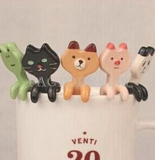 мультфильм творческих милые животные керамические кофе