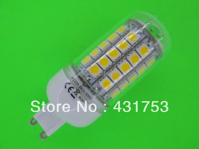 G9 Chip 69 LED Cool White Light Bulb Lamp 220V 12W ( High Brightness ) lights for home 5050 SMD