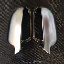 1 pair For Audi A3 A4 B9 A5 matt chrome mirror case rearview mirror cover shell(China (Mainland))