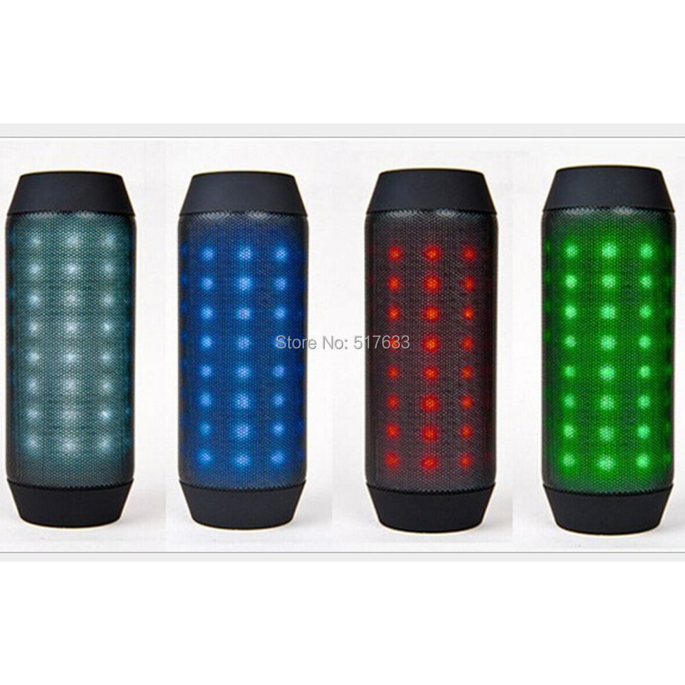 [3 Colors] New bright Bluetooth speaker colorful LED Bluetooth hands-free calls bike speaker radio card BQ-615,SG free shipping(China (Mainland))