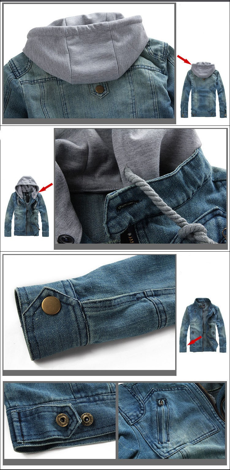 Denim Jacket men Hooded Jean Jackets streetwear Slim fit Vintage Mens Jacket and Coat outdoors Jeans clothing Plus size 4XL 5XL (2)