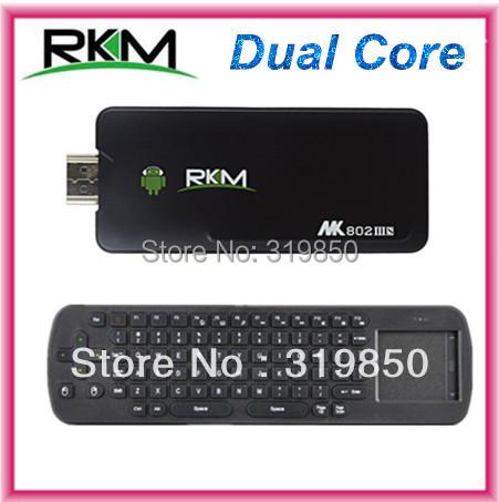 Rikomagic MK802IIIS MK802-IIIS MK802 IIIS Mini PC Bluetooth Android 4.4.2 box 1GB RAM 8GB ROM HDMI +Fly air mouse Keyboard RC12(China (Mainland))