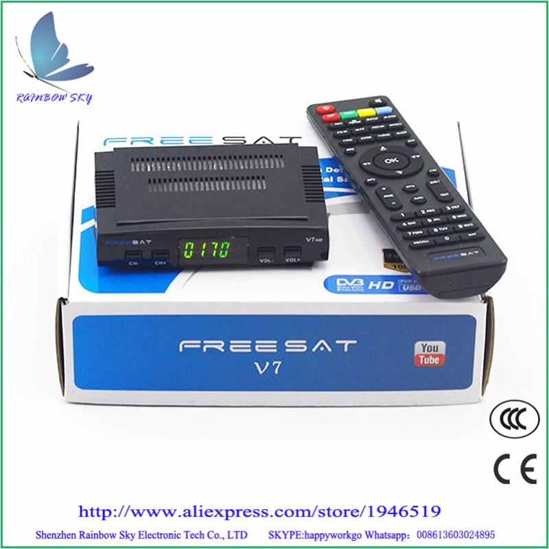 Digital tv satellite decoder Freesat V7 DVB-S2 HD satellite TV receiver Youtube Power VU CCcam Newcamd(China (Mainland))