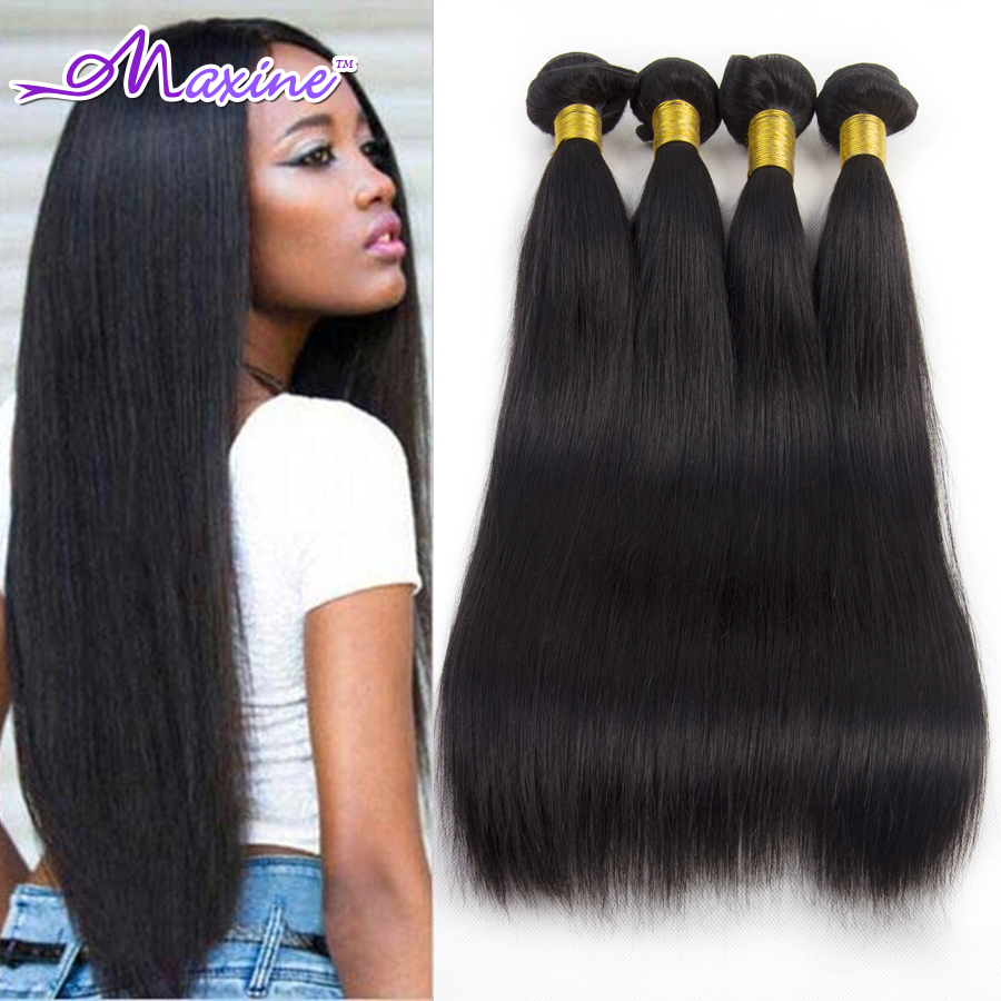 """6A Indian Virgin Hair Straight 8-30"""" Unprocessed Virgin Indian Hair Extensions Real Indian Straight Hair Extension 4Bundles(China (Mainland))"""