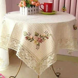 2013 New arrival hot sale luxury chinese design handmade linen embroidery tablecloth table cover, free shipping(China (Mainland))