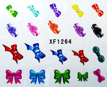 Flower Water Decals rosette Water Transfer Nail Stickers New 2013 Hot BLE XF Series Free Shipping