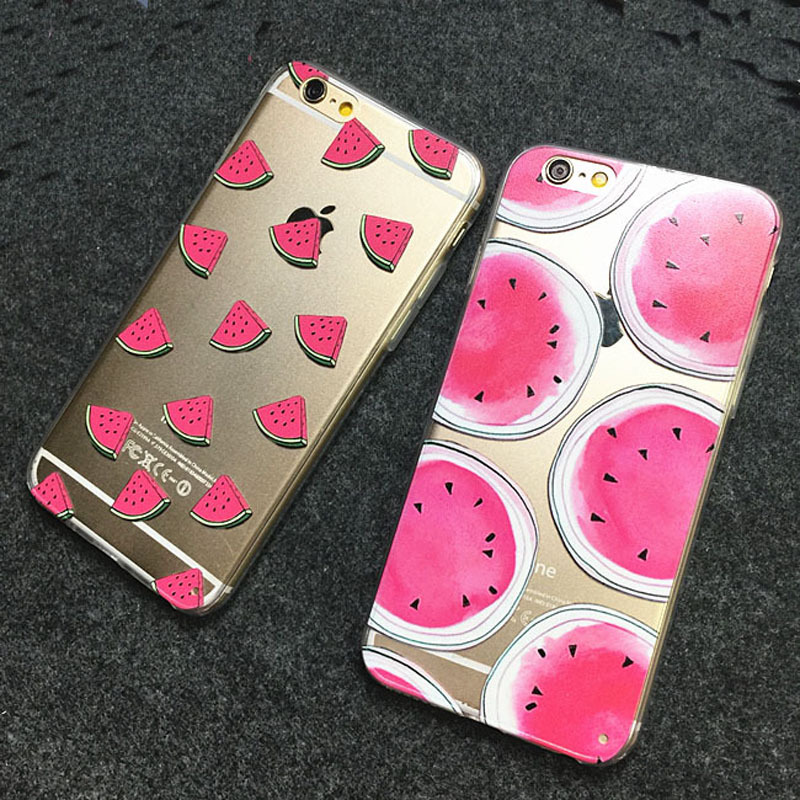 Wholesale New Hot Sale Watermelon Image Logo Light TPU Phone Back Cover Phone Case For Iphone 5 5S cell phone sets(China (Mainland))