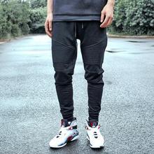 Fashion Biker Joggers Jogging Slim Fit Skinny Sweatpants Harem Pants Man Hip Hop Swag Clothes Clothing Men Gray Black Kanye West