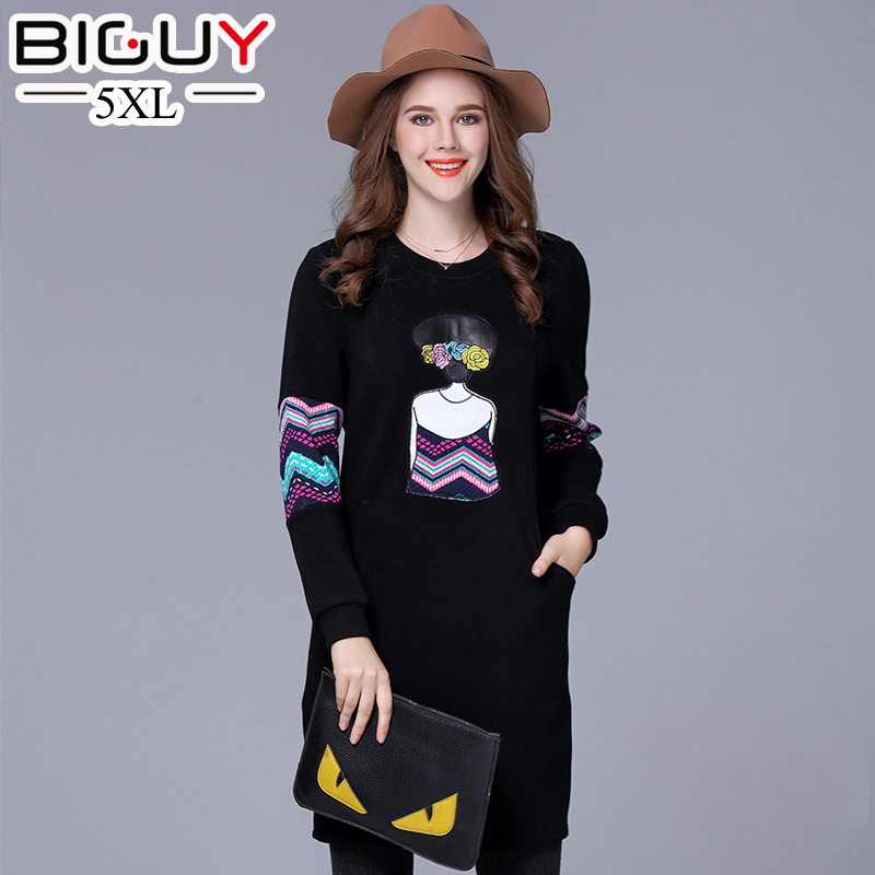 Dress women cute printed loose christmas dress casual pockets big size