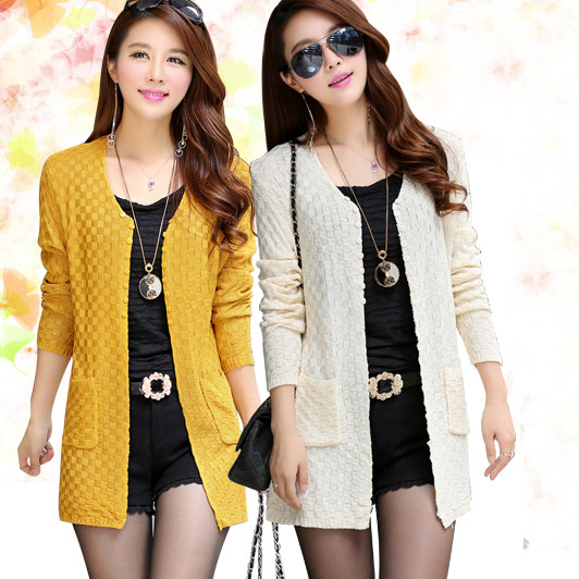 womens sweater 2014 spring cardigan 2015 long sleeve thin