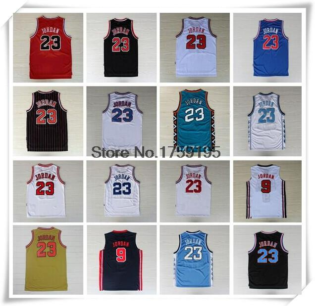 Top Quality ALL star Chicago #23 Michael Jordan Jersey Red Black Team USA Micheal Jordan 98 Basketball Jersey White Blue Jersey(China (Mainland))