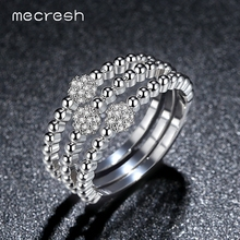 Buy Mecresh Micro CZ Ball Shape Ladies Bridal Sets Rings Wedding Silver/Gold-Color Anelli Donna Female Fashion Jewelry JZ041 for $6.79 in AliExpress store