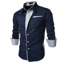 2015 New Casual Shirts Long-Sleeved Men Shirt Business Casual Slim Fit Male Shirt Clothes chemise homme Size M--XXXL(China (Mainland))