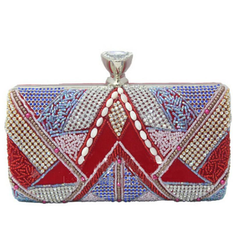 2015 Luxury Women Clutches Fashion Rhinestone Party Evening Bags Ladies Dinner Purse Bridal Wedding Wallet Bolsas Mujer XA937C