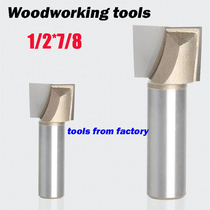 1pc wooden router bits 1/2*7/8 CNC woodworking milling cutter woodwork carving tool(China (Mainland))