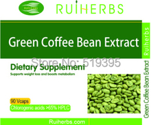 25 X Bottles Pure Green Coffee Bean Extract  Caps 65% Chlorogenic Acids 500mg x 2250pcs free shipping