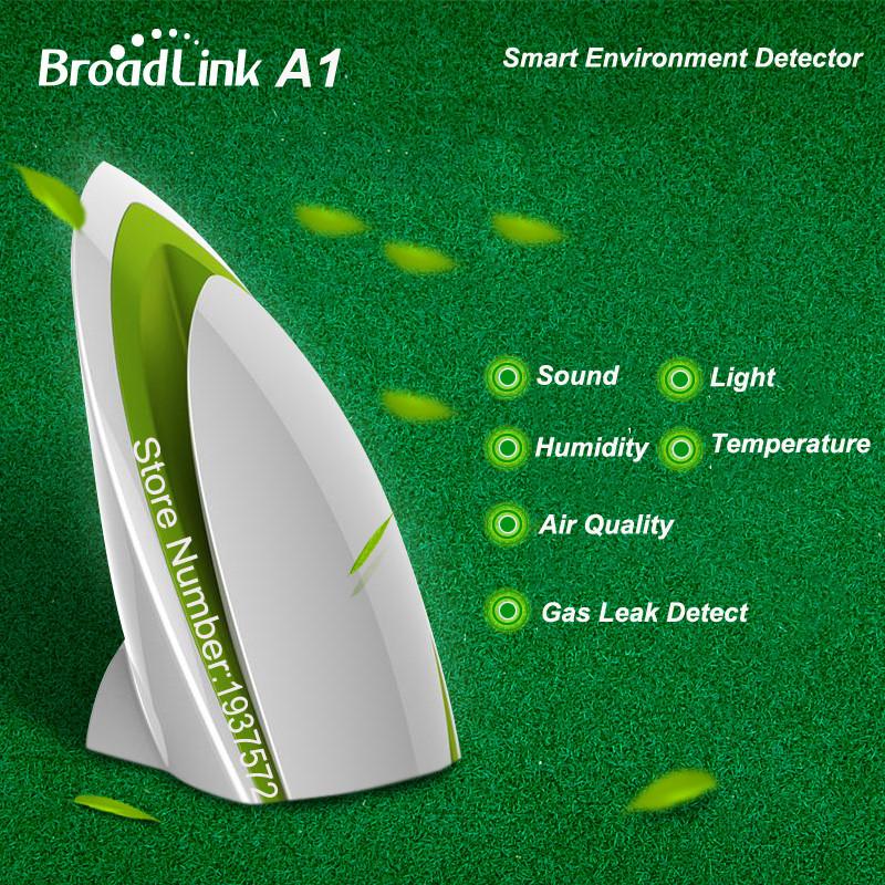 image for Broadlink A1 Air Detector Sensor+Smart Home Security Kit,SmartONE S1C