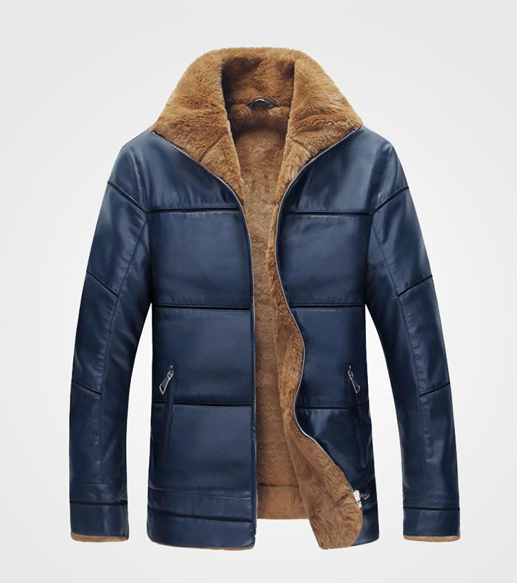 Winter Leather Jacket Men Thickening Warm Windbreak Outwear Lamb Fur Collar mens leather Jackets and Coats Plus Size M-6XL (12)