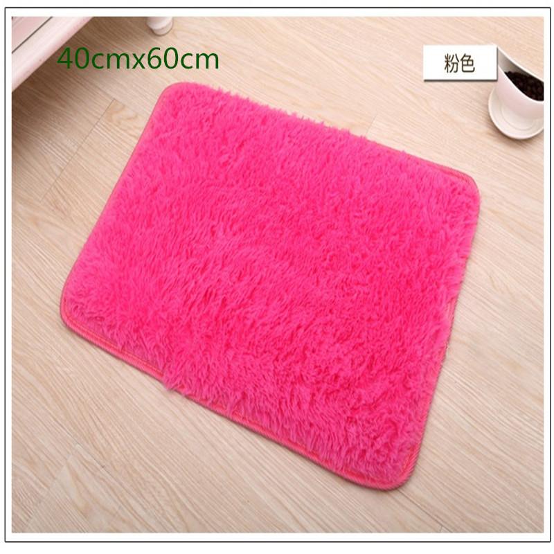 Free Shipping Hot Sale 40cm*60cm High quality Fashion Fluff Carpet Floor Rug Cute Area anti-slip mat/doormat/bath Carpet Pad(China (Mainland))