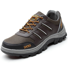 large size men steel toe cap work safety shoes casual breathable outdoor hiking tooling boots puncture proof protection footwear(China (Mainland))