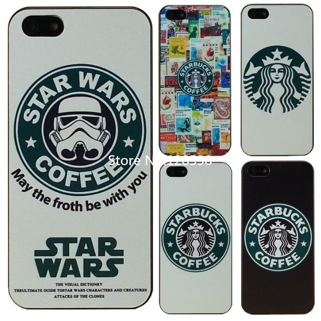 1 piece Starbucks Star wars coffee design phone case iphone 5 5s Case