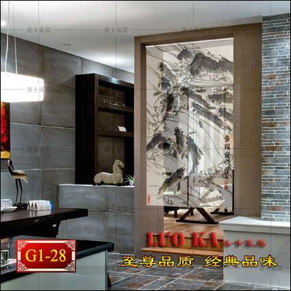 High-grade custom office shutter blackout curtains insulation shutter curtain entrance curtain paintings Dover Chinese<br><br>Aliexpress
