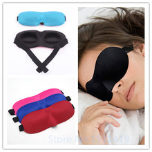 1 pz a caso vendita calda di sonno maschera per gli occhi 3d portatile molle di viaggio sleep resto aiuti eye mask patch mascherina di sonno caso della copertura degli occhi(China (Mainland))