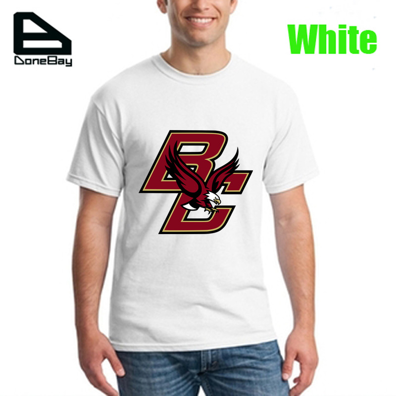 2016 new mens t shirt men sport brand famous hip hop Boston College Eagles men basketball player logo polyster letters tees(China (Mainland))