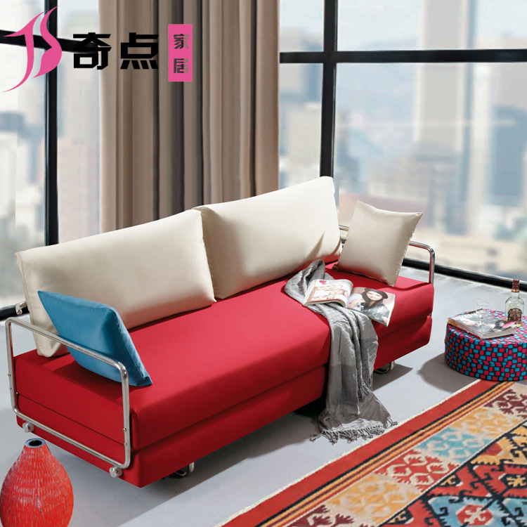 multifunction livable fabric sofa bed two meters wood folding double sofa bed three factory outlets. Black Bedroom Furniture Sets. Home Design Ideas