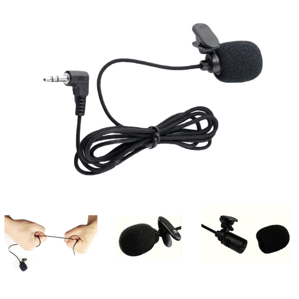 Portable 3.5mm Mini Headset Microphone Tie Lapel Lavalier Clip Microphone for Lectures Teaching Conference Guide Studio Mic(China (Mainland))