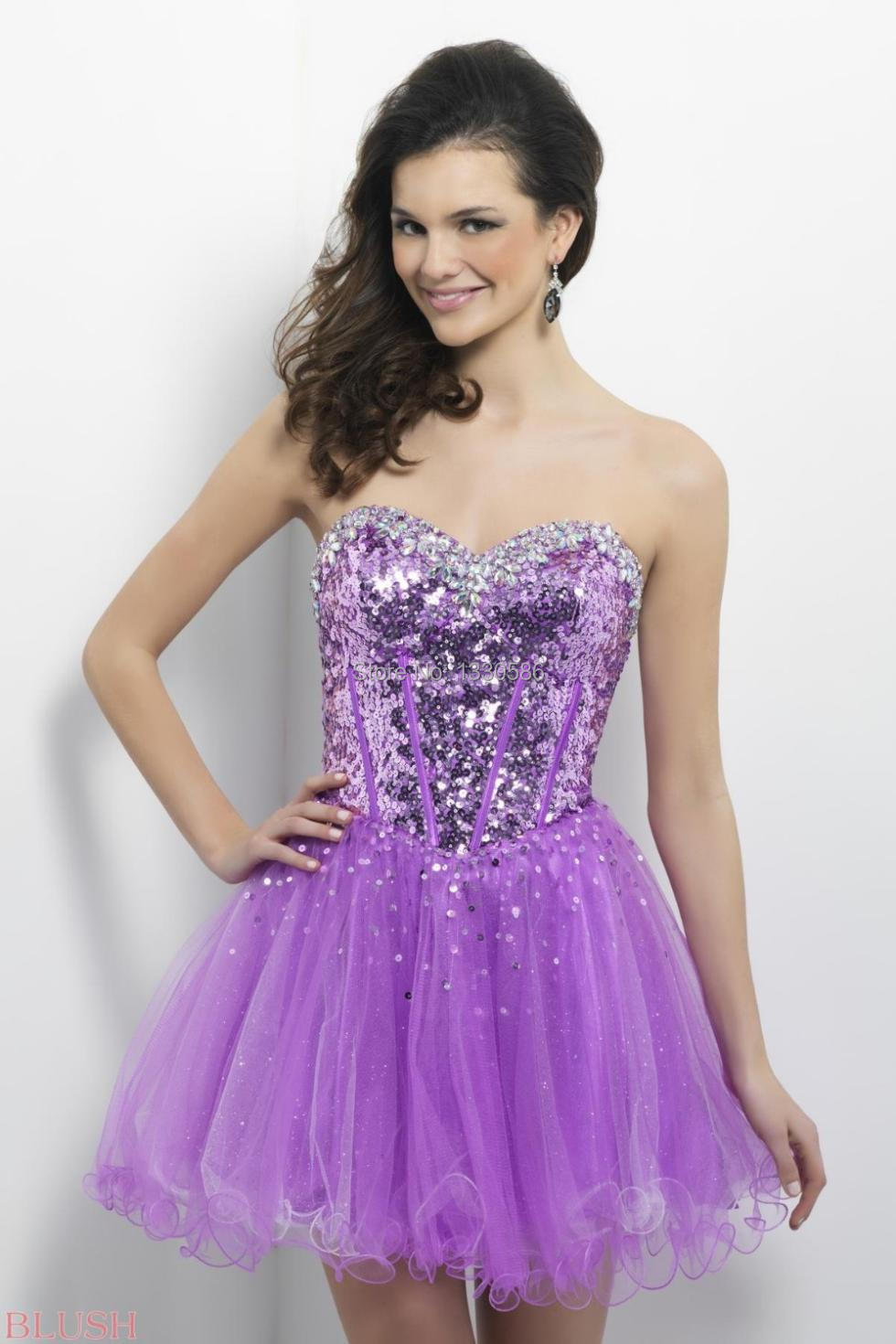 Lavender Homecoming Dresses - KD Dress