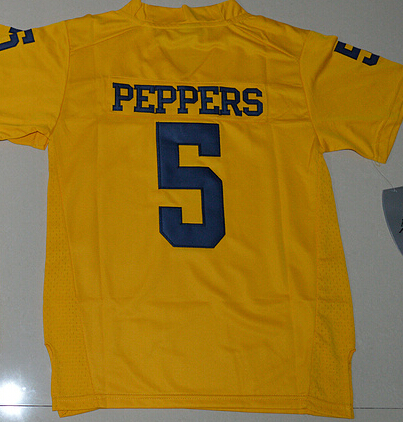 New Arrival Nike Michigan Wolverines Jabrill Peppers 5 College Limited Jersey - Yellow Size S,M,L,XL Desmond Howard 21(China (Mainland))