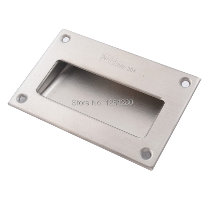 free shipping furniture handle knob Stainless steel handle drawer handle house hardware item supply fire box handle(China (Mainland))