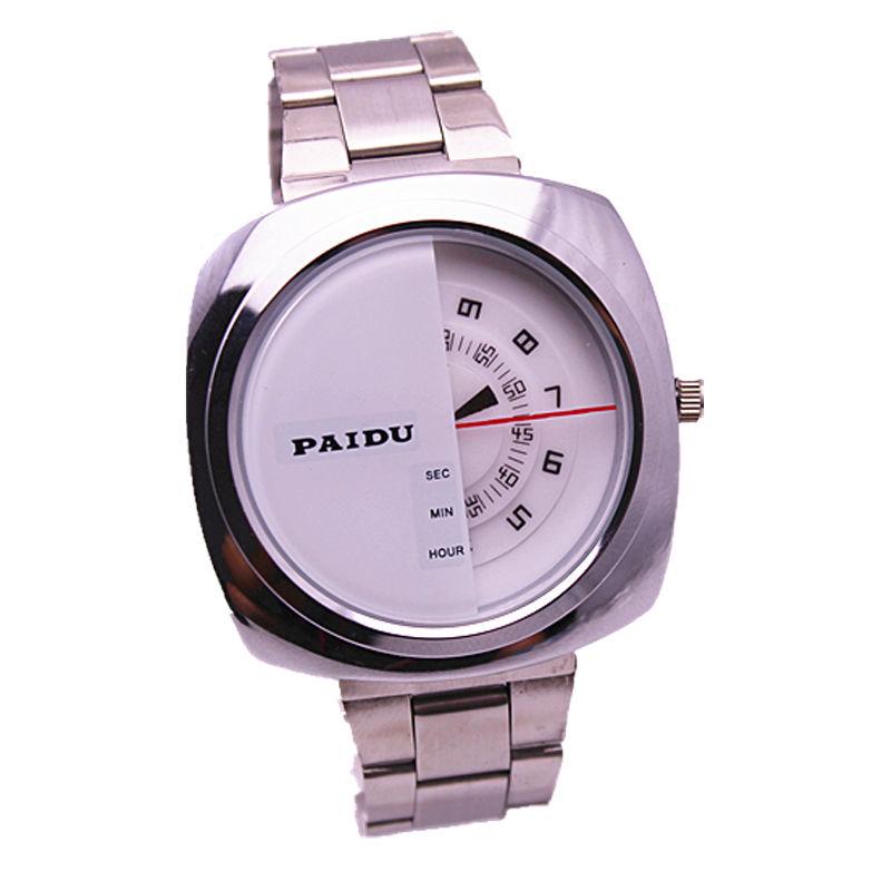 Здесь можно купить  Women fashion japan quartz movement paidu special design turntable square dial men luxury alloy watch  Ювелирные изделия и часы