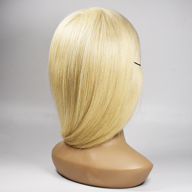 100% Human Hair Mannequin Head Professional Training Head for Salon 35cm Mannequin Head With Real Hair With Shoulder