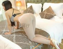 Hot Sexy Ice Silk Transparent Leggings Open Zipper Crotch See Through Pencil/Flare Pants Erotic Lingerie Club Wear(China (Mainland))