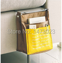 Sofa tray foldable bag Multifunctional sofa bed side table and hang the bag pouch bag remote control bags free shipping(China (Mainland))