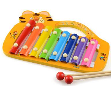 Popular toys Animals portable music wooden children hand and struck piano octave toy free shipping(China (Mainland))