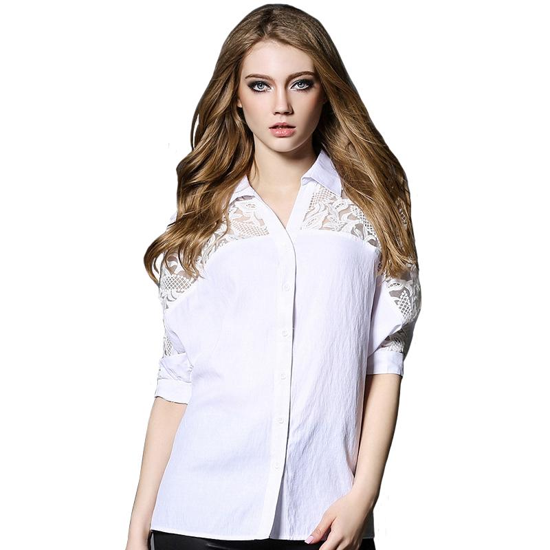 New trendy women 39 s fashion half sleeve shirts high quality for Womens white shirts high quality
