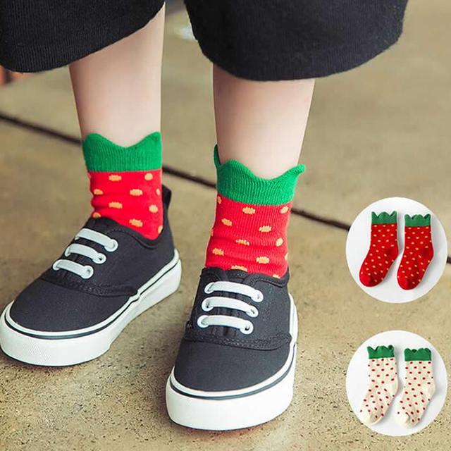 Дети носки рождество носки хлопок корея новый милый осенью носок девушки зима хлопок ...