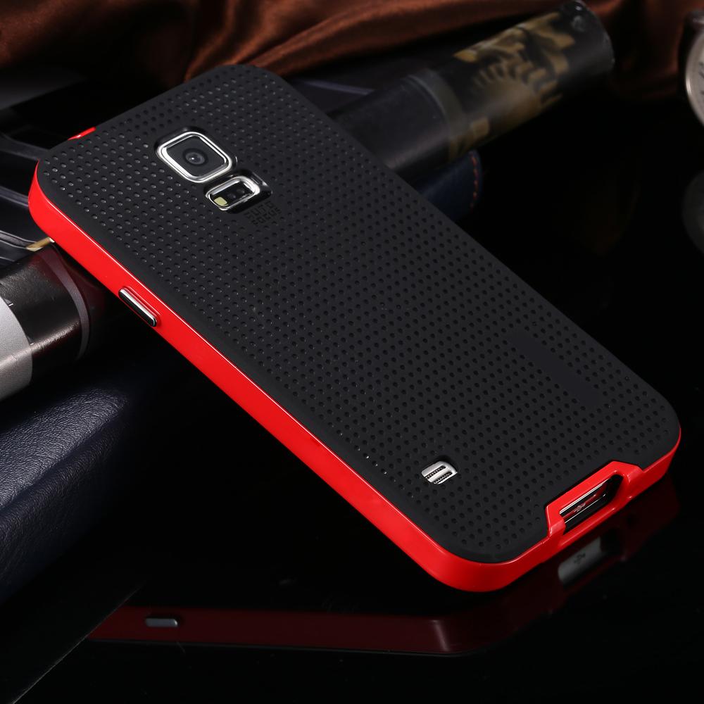 Гаджет  High Quality Big Promotion Only $1.99 Lexury Super Thin Cover For Samsung Galaxy S5 i9600 New Brand Case TPU+PC Gold Sliver None Телефоны и Телекоммуникации