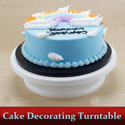 """Hot 11"""" Cake Stand Swivel Plate Rotating Revolving for Sugarcraft Decorating Turntable Platform Valentine's Day DIY Cakes Tools(China (Mainland))"""