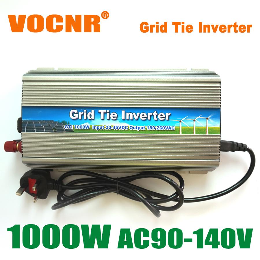 HOT SALE!! 1000W MPPT Grid Tie Solar Inverter 22-45V DC to AC 90-140V On Grid Inverters Pure Sine Wave for 1250W 24V Solar Panel(China (Mainland))