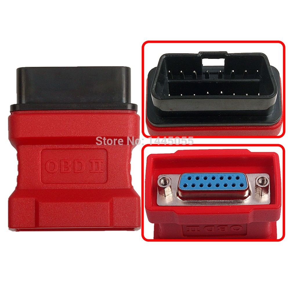 Original Autel Maxidas DS708 OBD2 OBD 16pin Adaptor DS708 Connector Free Shipping(China (Mainland))